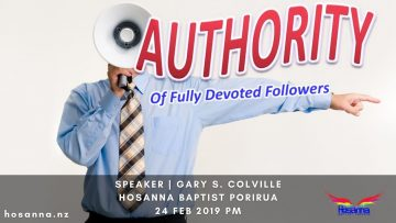 Authority of Fully Devoted Followers