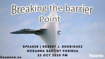 Breaking The Barrier Point
