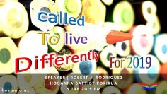 Called to Live Differently for 2019