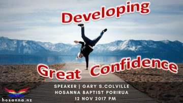 Developing Great Confidence