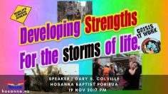 Developing Strengths For The Storms Of Life