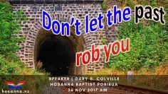 Don't Let the Past Rob You