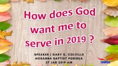 How Does God Want Me to Serve in 2019