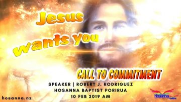 Jesus Wants You: A Call to Commitment