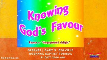 Knowing God's Favour