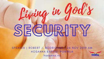 Living in God's Security