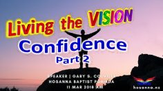 Living the Vision: Confidence Part 2