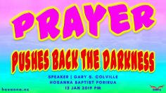 Prayer Pushes Back the Darkness