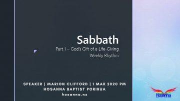 Sabbath, Part I