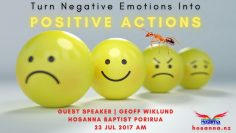 Turn Negative Emotions into Positive Actions