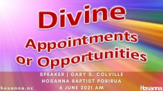 Divine Appointments Or Opportunities
